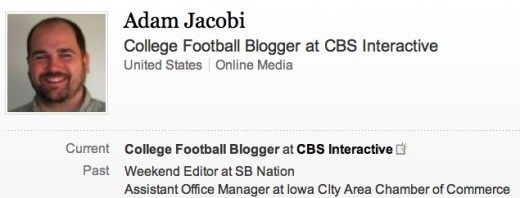 Adam Jacobi from his LinkedIn account